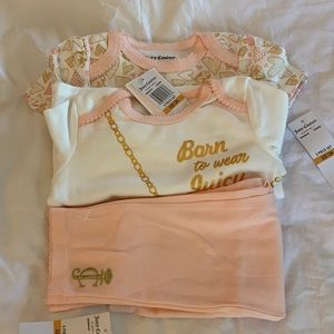Juicy Couture Baby Girl 3 Piece Set 12M NWT